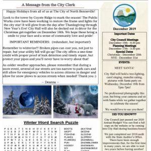 12-2019 Newsletter